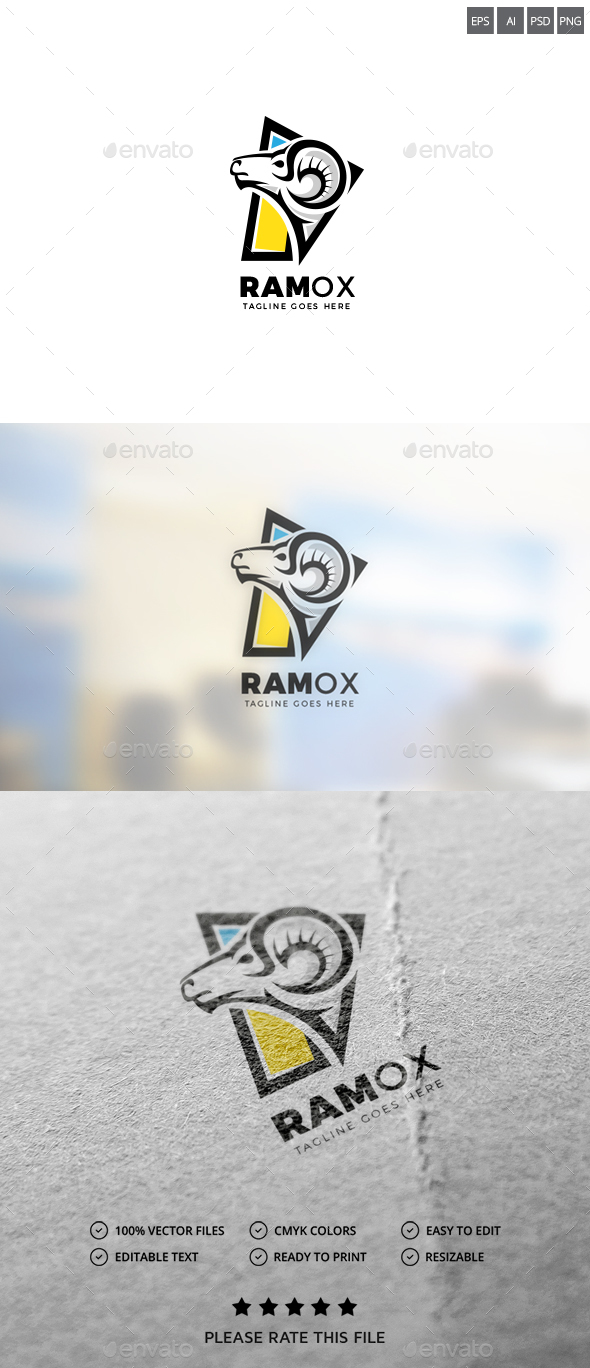 Ram Logo - Animals Logo Templates