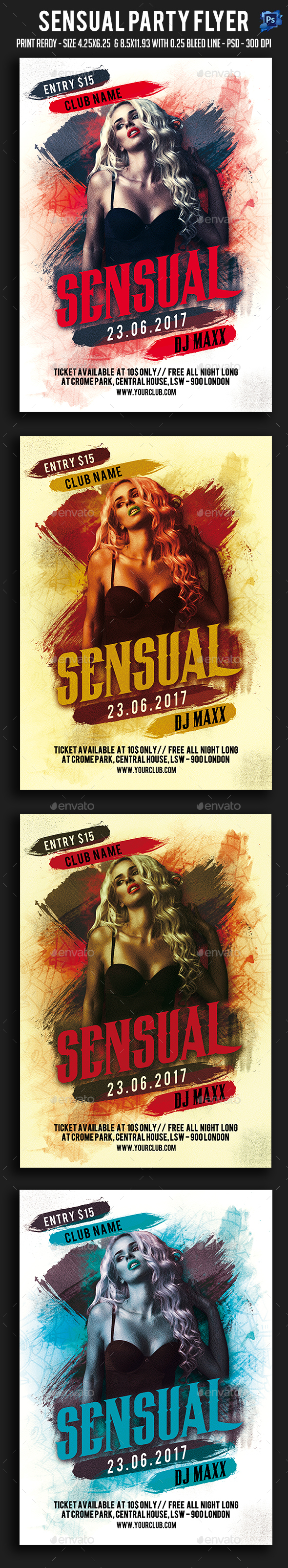Sensual Party Flyer - Clubs & Parties Events