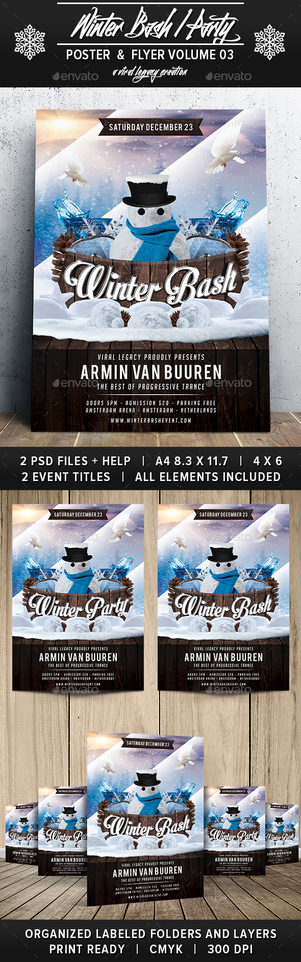 Winter Bash V03 - Events Flyers