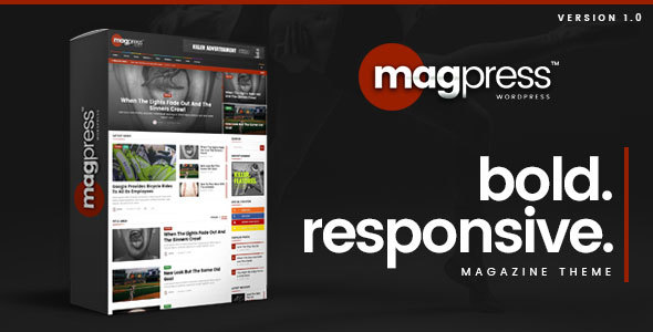 Magpress – Bold News & Magazine WordPress Theme