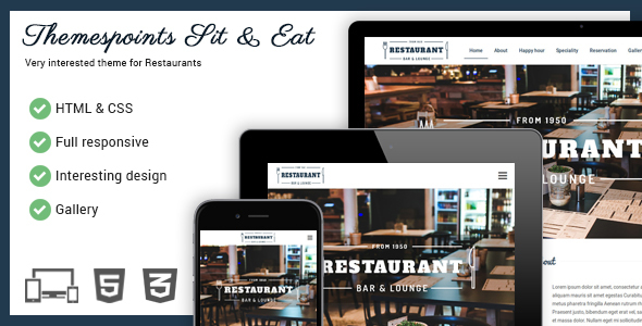 Sit & Eat – Restaurant Responsive Website Template