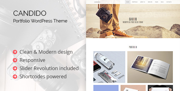 Candido – Portfolio WordPress Theme