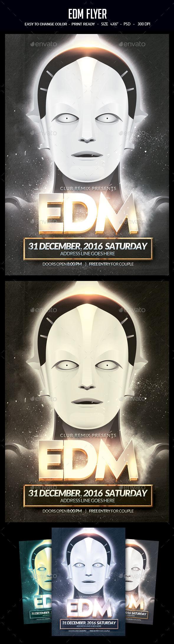 EDM Flyer - Clubs & Parties Events