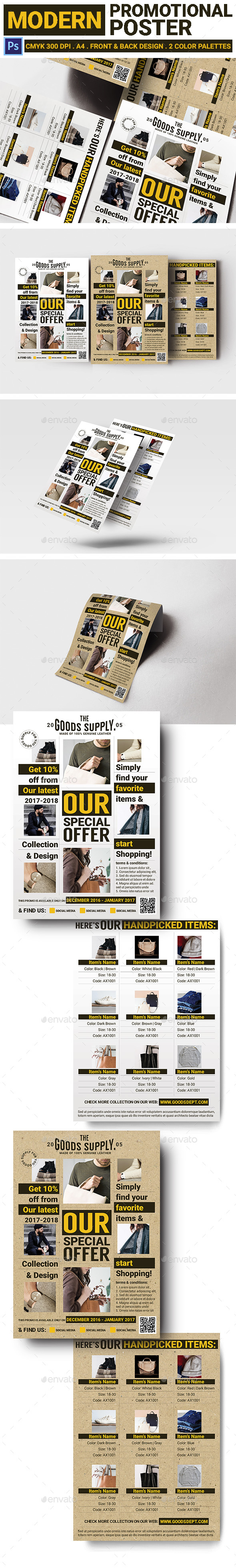 Modern Promotional Poster - Corporate Flyers