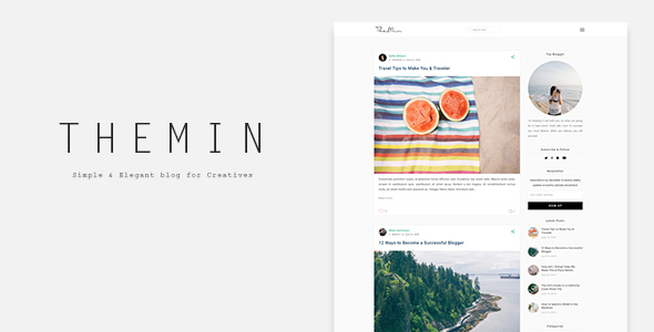 TheMin – Simple & Elegant WP Blog Theme