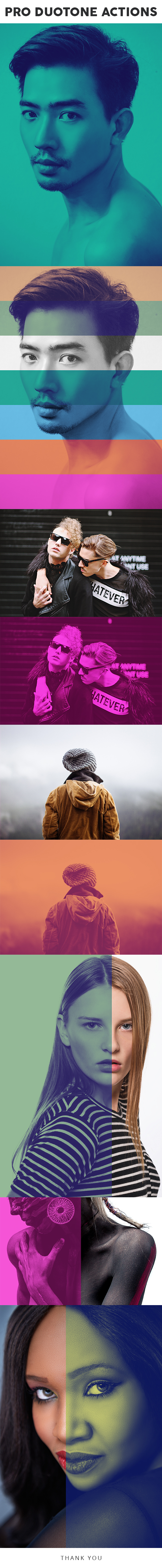 Pro DUOTONE Photoshop Actions - Photo Effects Actions