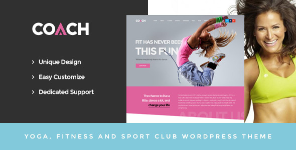 Coach – Sport Clubs, Fitness Centers & Courses WordPress Theme
