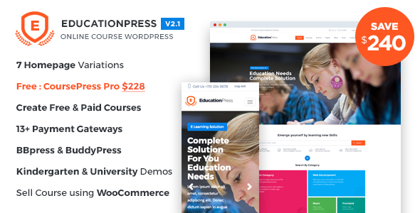 EducationPress – Complete Education WordPress Theme