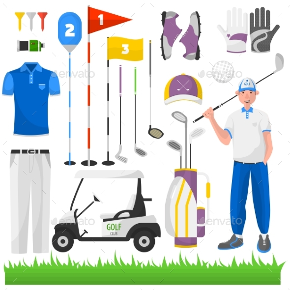 Set Of Game For Golf. - Sports/Activity Conceptual