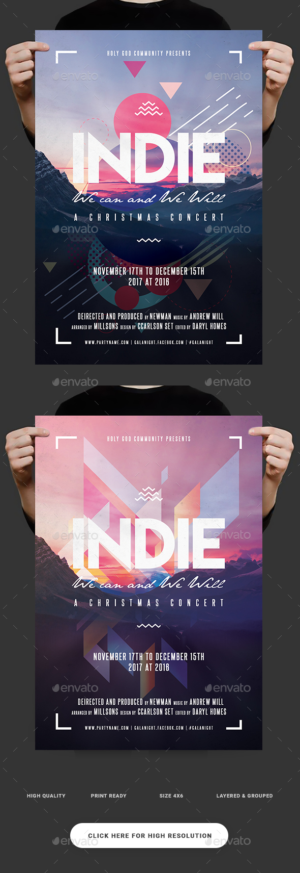 Indie Morning Flyer - Clubs & Parties Events