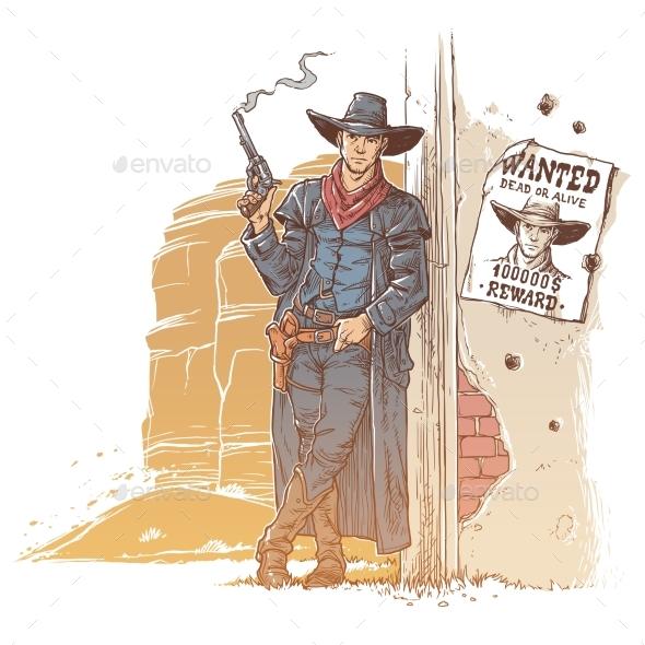 Robber With a Smoking Gun - Decorative Symbols Decorative