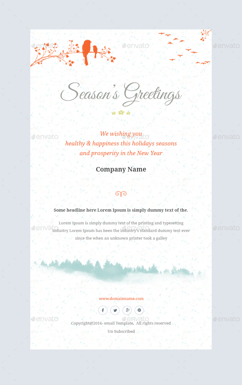 Christmas Offersgreetings Email Template Psd By Kalanidhithemes