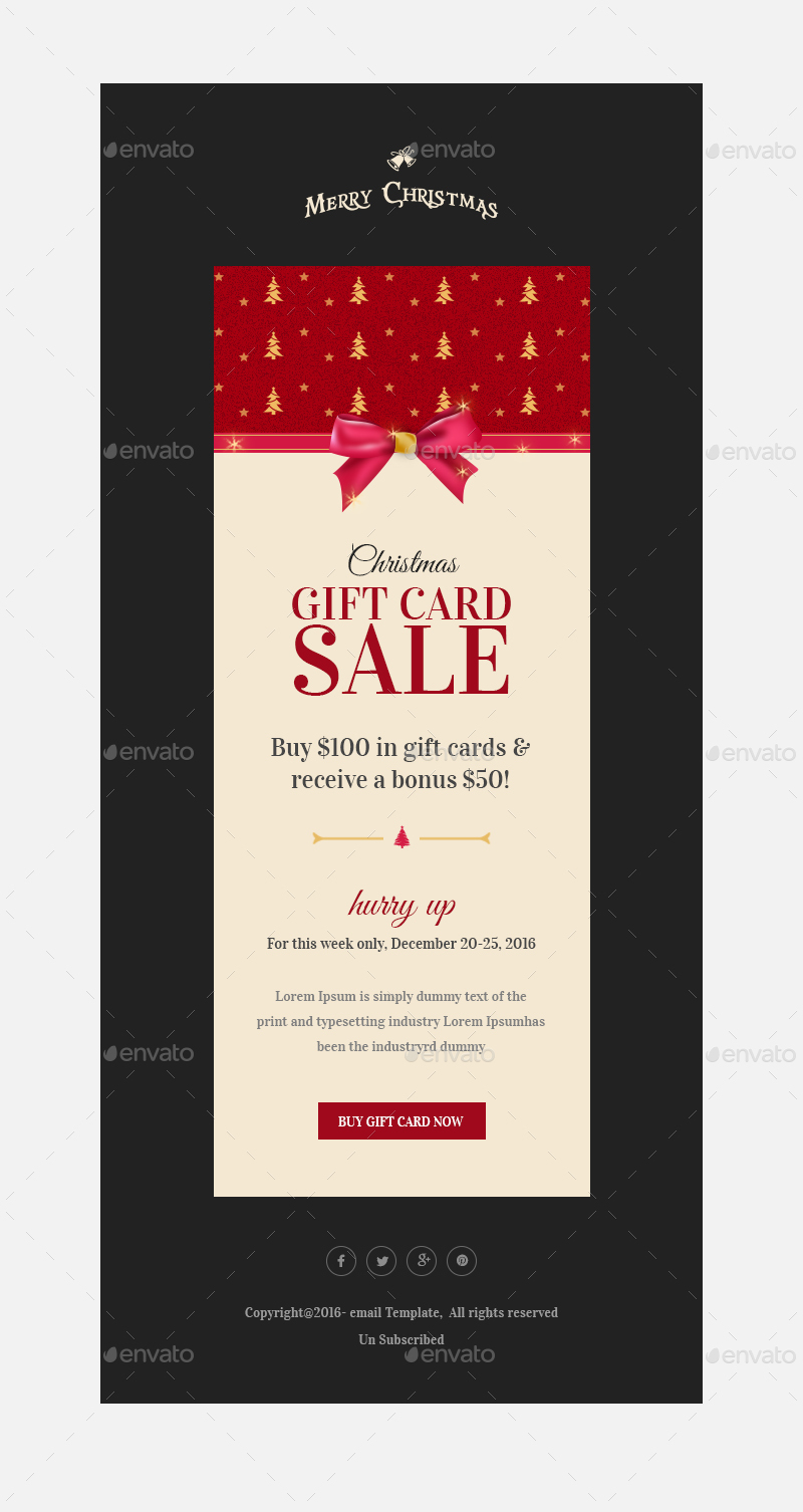 Christmas OffersGreetings Email Template PSD By Kalanidhithemes - Buy email templates