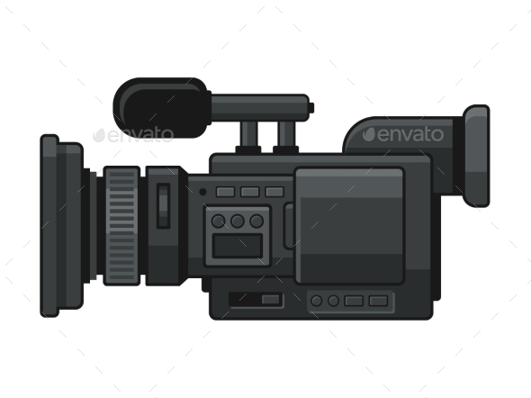 Professional Digital Video Camera Recorder Icon - Man-made Objects Objects