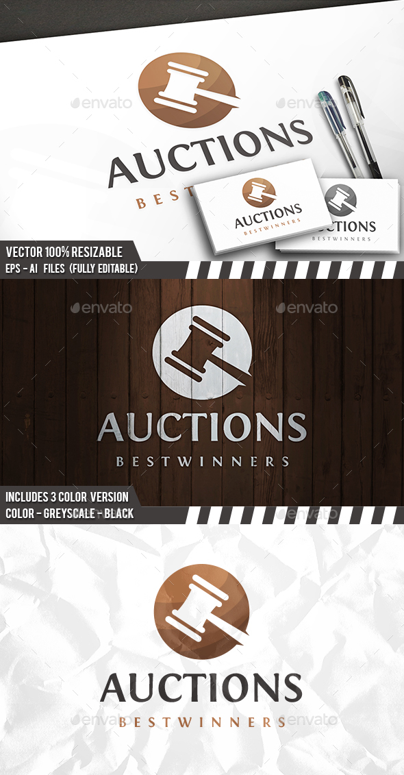 Auction Logo - Objects Logo Templates