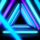 Glow Neon Blue Lights Tunnel - VideoHive Item for Sale
