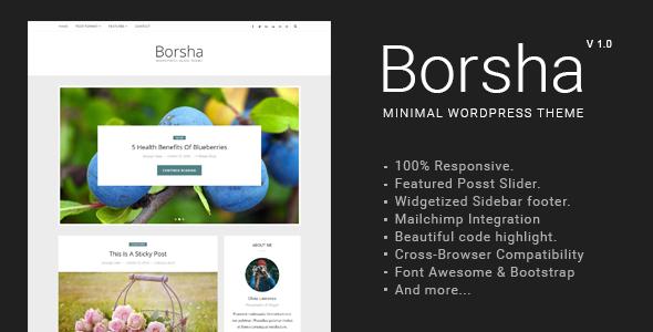 Borsha – Responsive Minimal Blog Theme