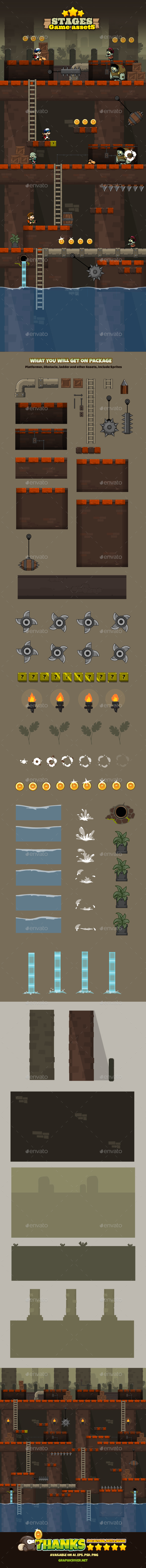 Game Stage 01 - Tilesets Game Assets