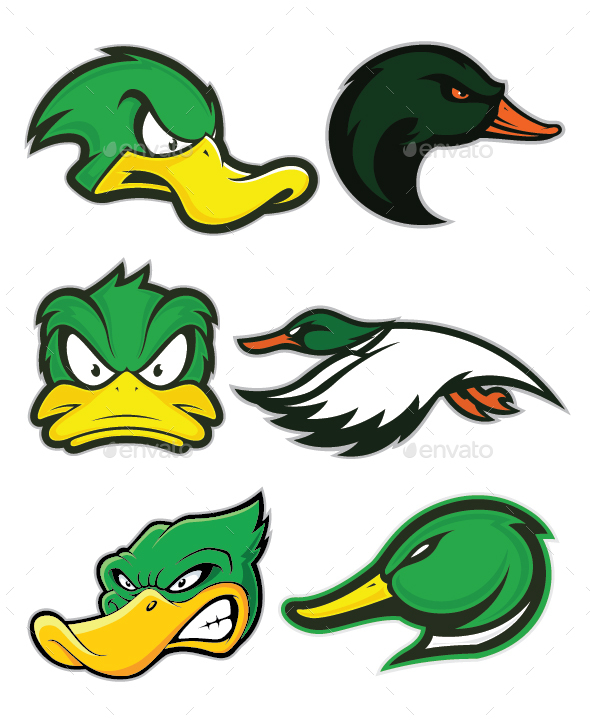 Duck Mascot Logo - Animals Characters
