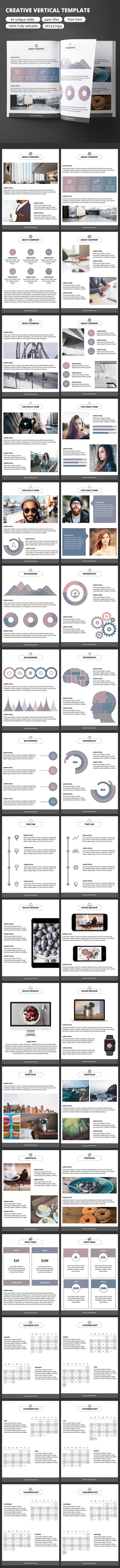 Creative Vertical - GoogleSlide Template - Google Slides Presentation Templates