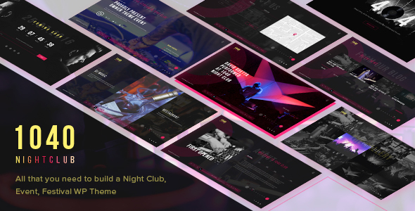 1040 Night Club – DJ, Party, Music Club WordPress Theme