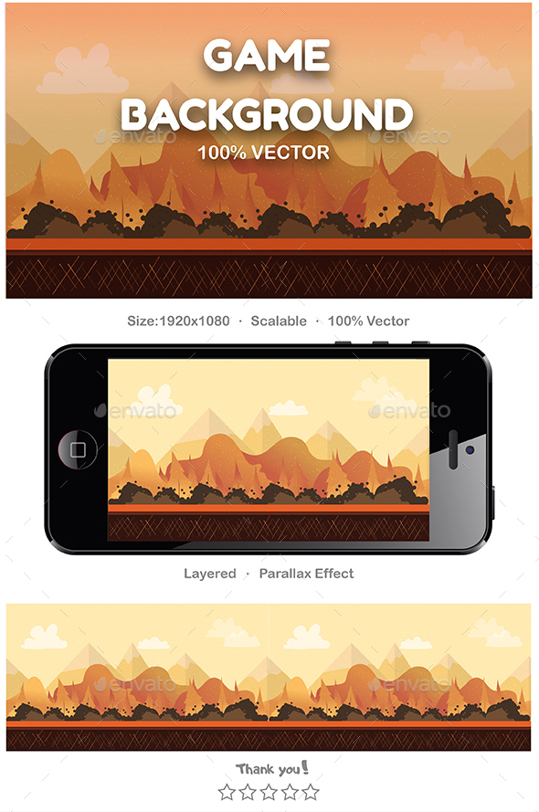 Seamless Cartoon  Background - Backgrounds Game Assets