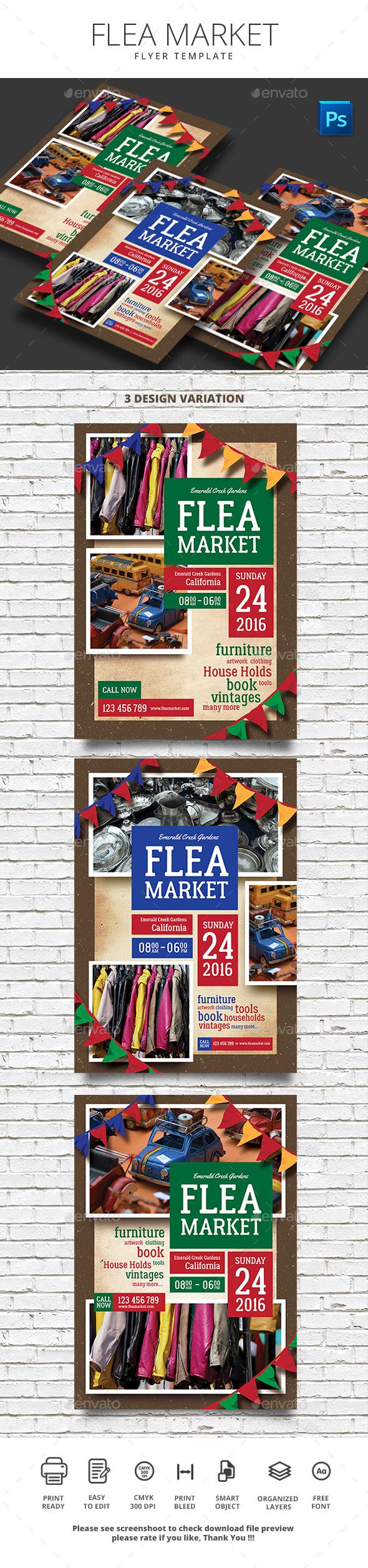 Flea Market Flyer - Events Flyers