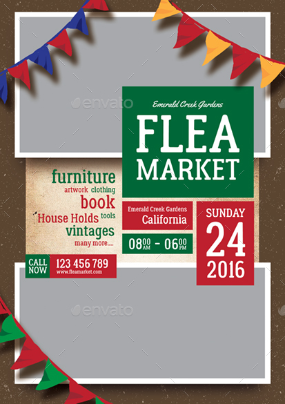 Flea Market Flyer By Monggokerso Graphicriver