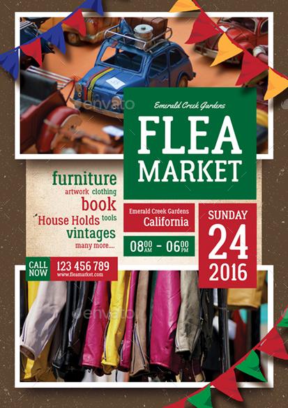 flea market flyer by monggokerso