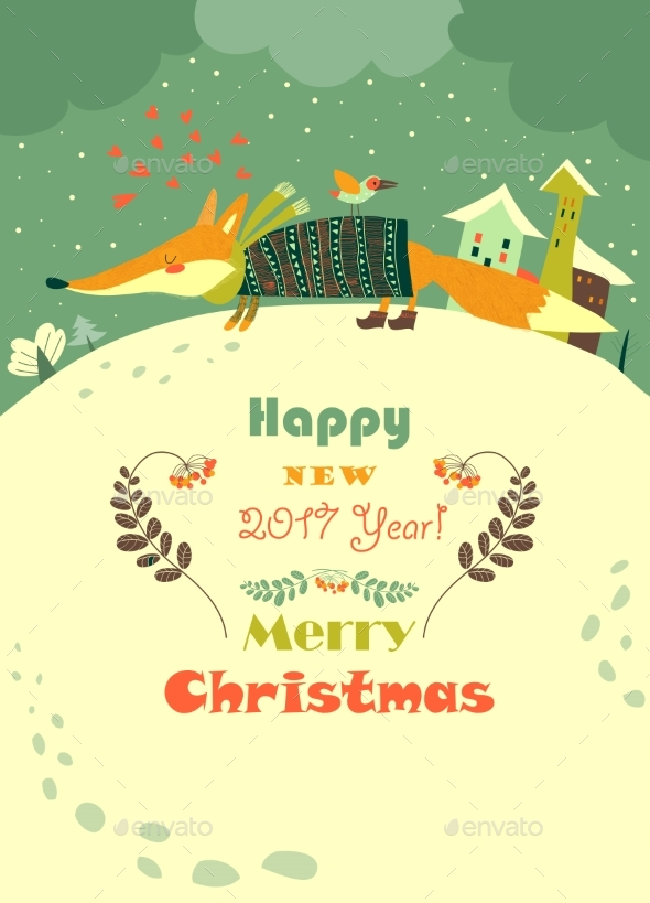 Fox and Snowdrifts - Christmas Seasons/Holidays