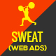 Sweat Fitness Web Ad Banners. - GraphicRiver Item for Sale