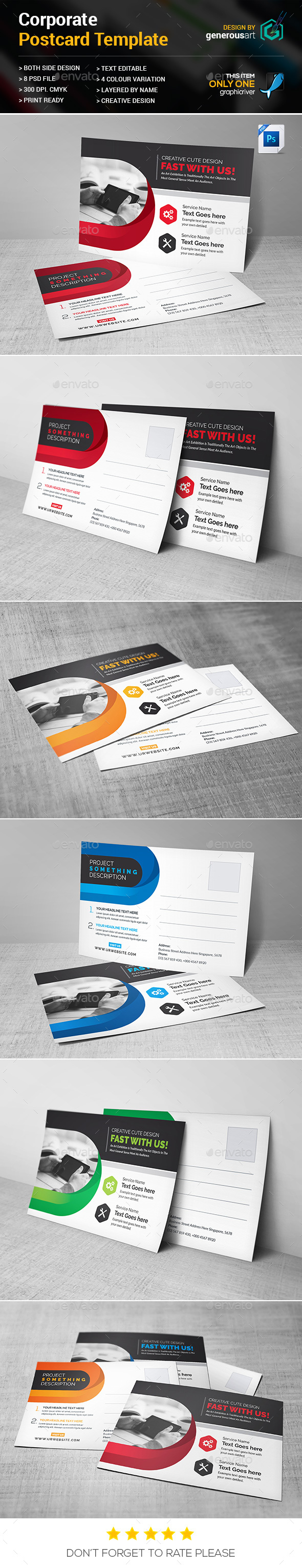 Corporate Postcard - Cards & Invites Print Templates