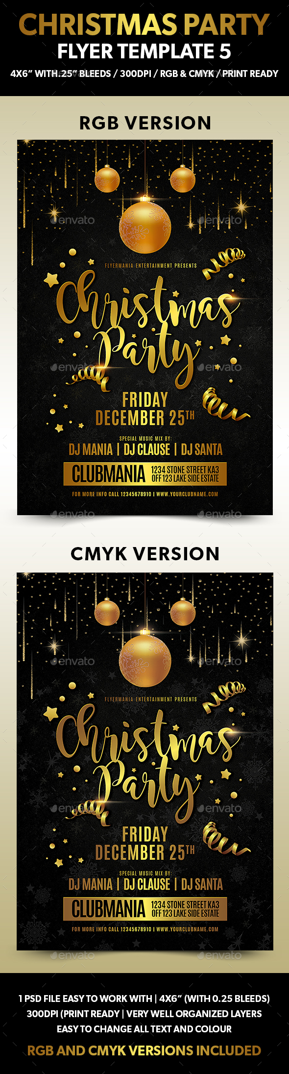 Christmas Party Flyer Template 5 - Events Flyers