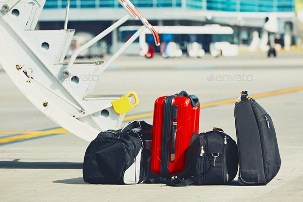 Luggage at the airport - Stock Photo - Images