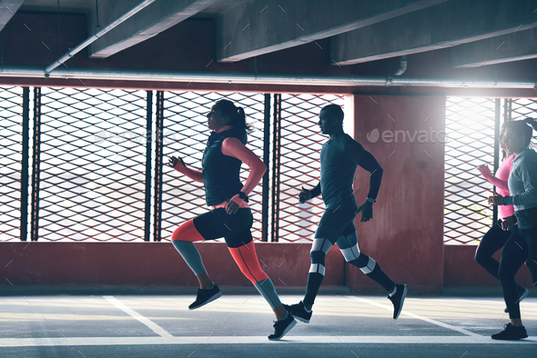 Runners captured in motion - Stock Photo - Images