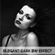 Elegant Dark Black & White Action