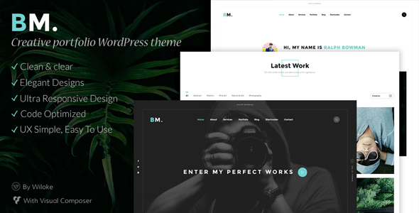 BM – Creative WordPress Theme