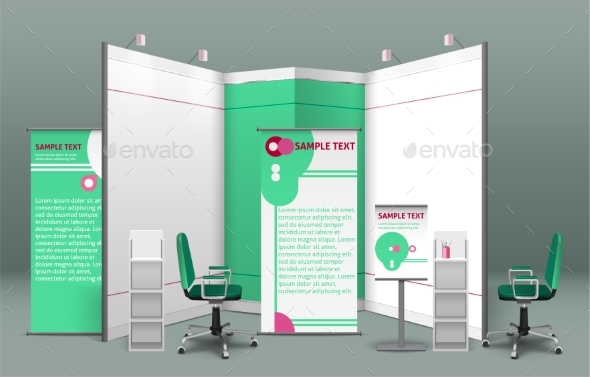 Exhibition Stand Concept - Miscellaneous Vectors