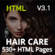 HairCare- Beauty Salon & Barber HTML5 Template for Women & Men - ThemeForest Item for Sale
