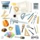 Construction Architect Tools Set