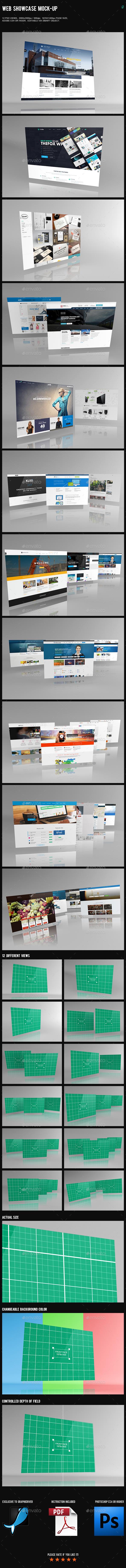 Web Showcase Mock-Up - Website Displays