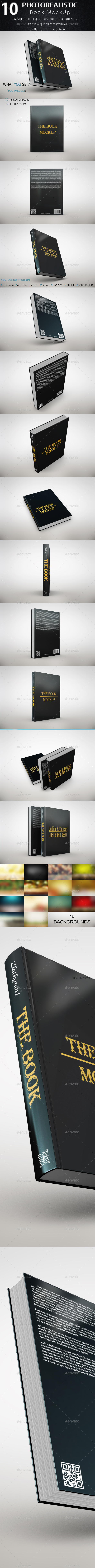 The Book MockUp - Product Mock-Ups Graphics