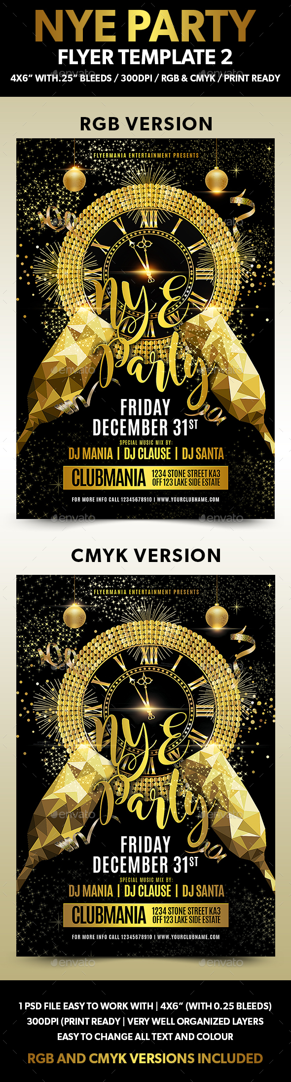 NYE Party Flyer Template 2 - Flyers Print Templates