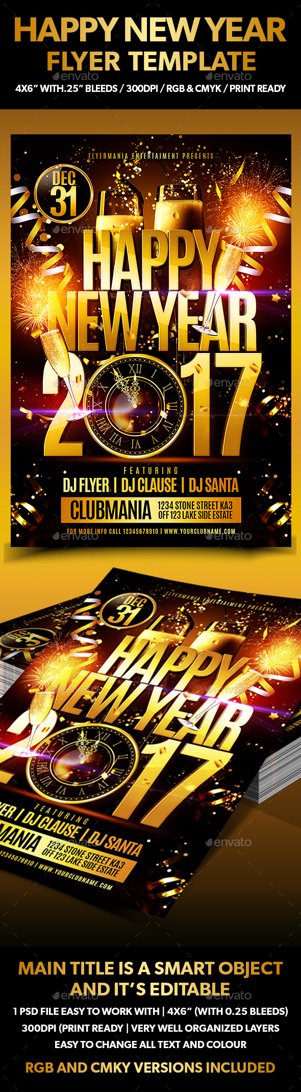 Happy New Year  Flyer Template - Holidays Events
