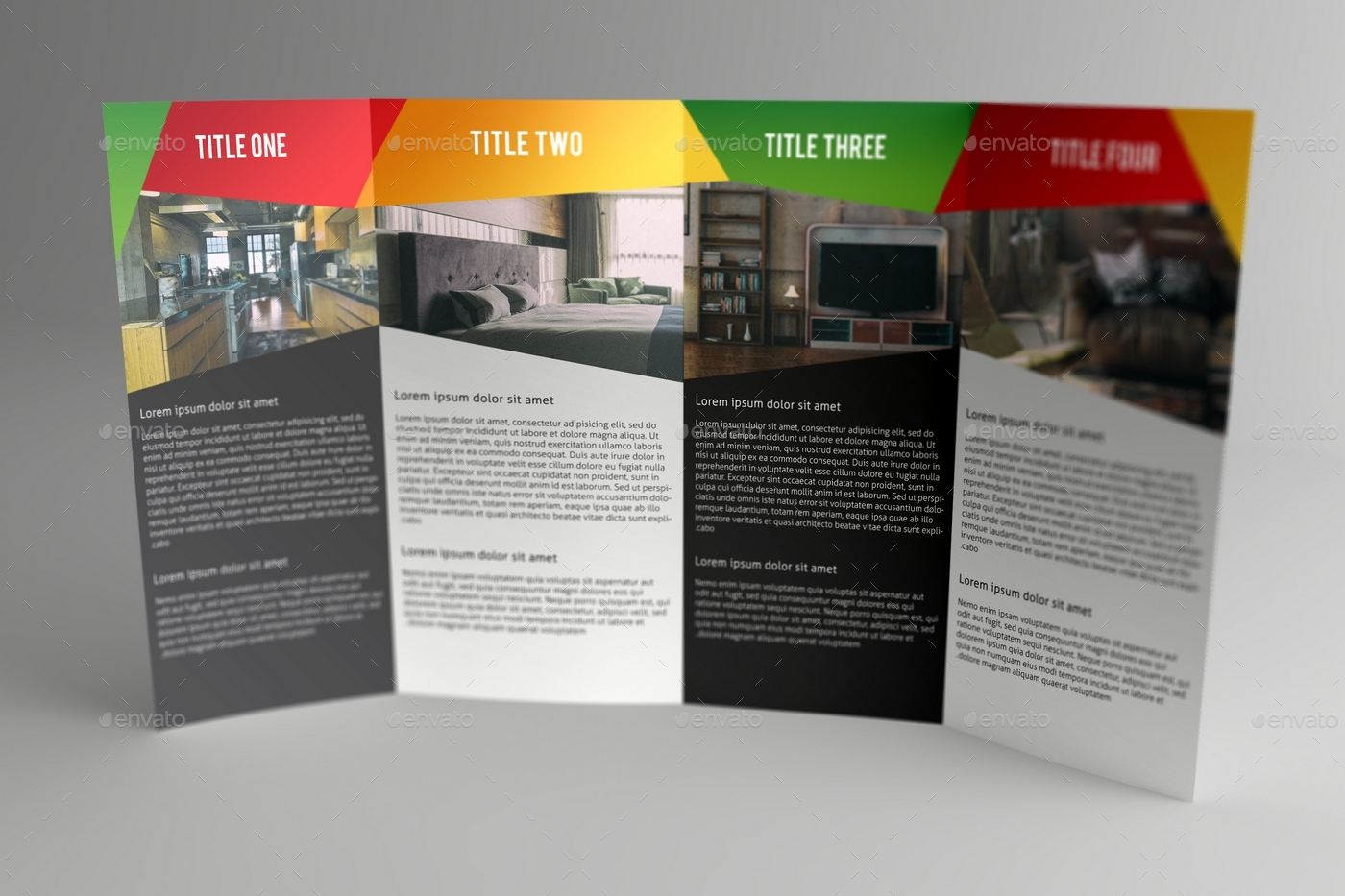 Double Gatefold Brochure Mock Up   Brochures Print · View 01  View 02 View 03 View 04 View 05 ...