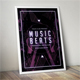 Music Beats Flyer Poster Template - GraphicRiver Item for Sale