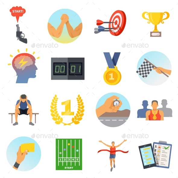 Competition Icons Set - Abstract Conceptual