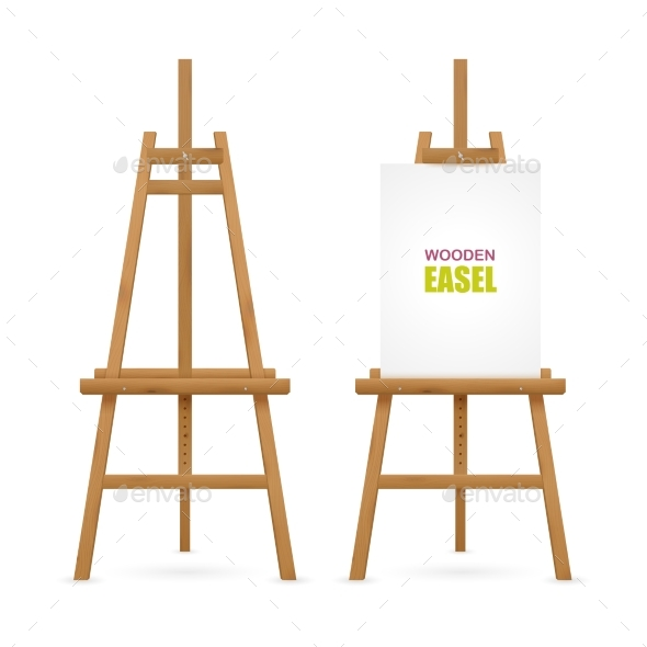 Wooden Artist Easel Set - Man-made Objects Objects