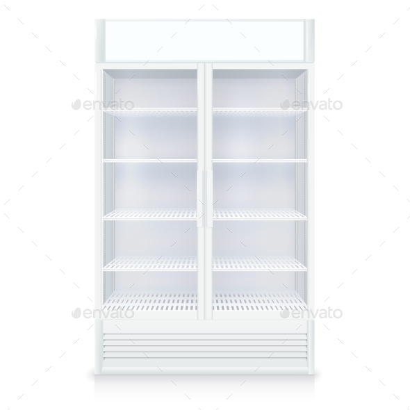 Realistic Empty Freezer - Man-made Objects Objects
