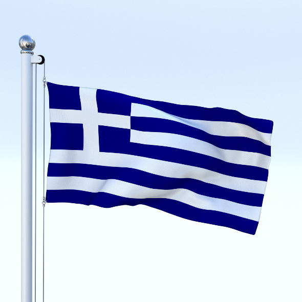 Animated Greece Flag - 3DOcean Item for Sale